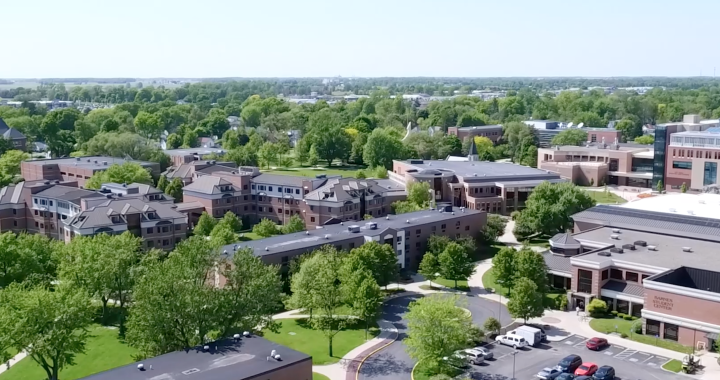 IWU Aerial Campus Overview