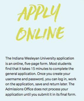 Indiana Wesleyan - Apply
